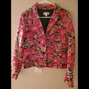 Isaac Mizrahi Jackets & Coats - Isaac Mizrahi Target Floral Blazer Boho Jacket